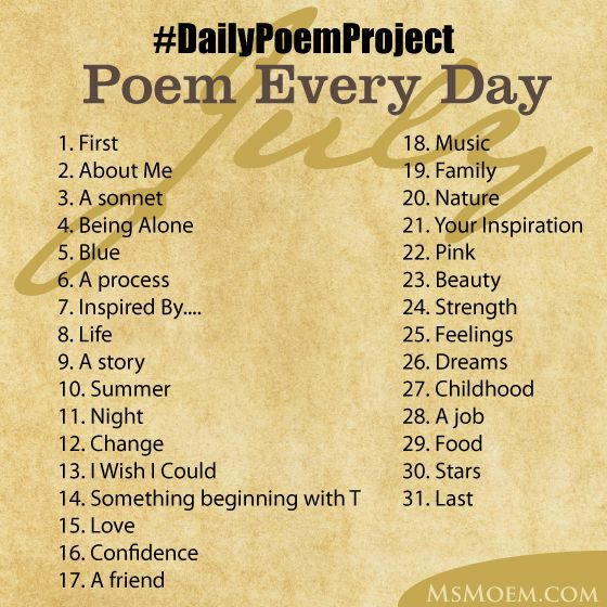 write a poem every day