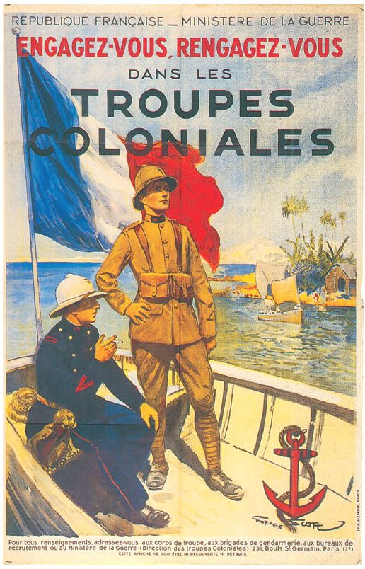 Recruiting for the French Colonial Army (avec images) | Affiches ...