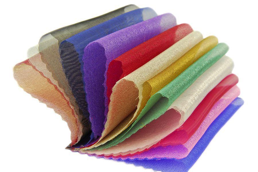 قماش الاورجانزا Organza Fabric Fabric Fabric Color