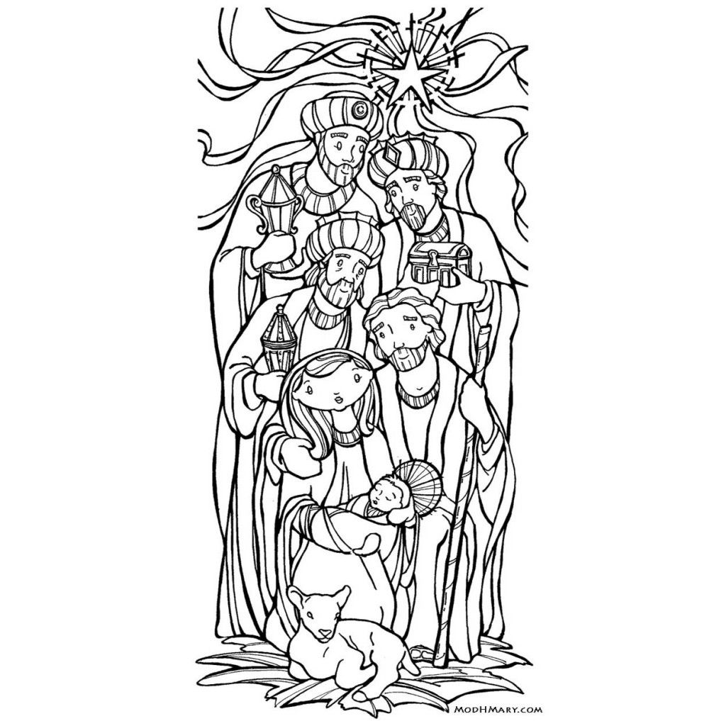 Coloring Pages Modhmary Christmas Pinterest Epiphany Free