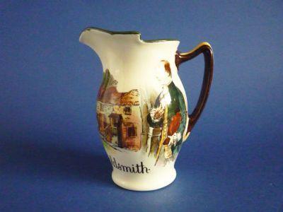 Royal Doulton Series Ware 'Authors and Inns - Oliver Goldsmith' Art Nouveau Jug D2079 c1910