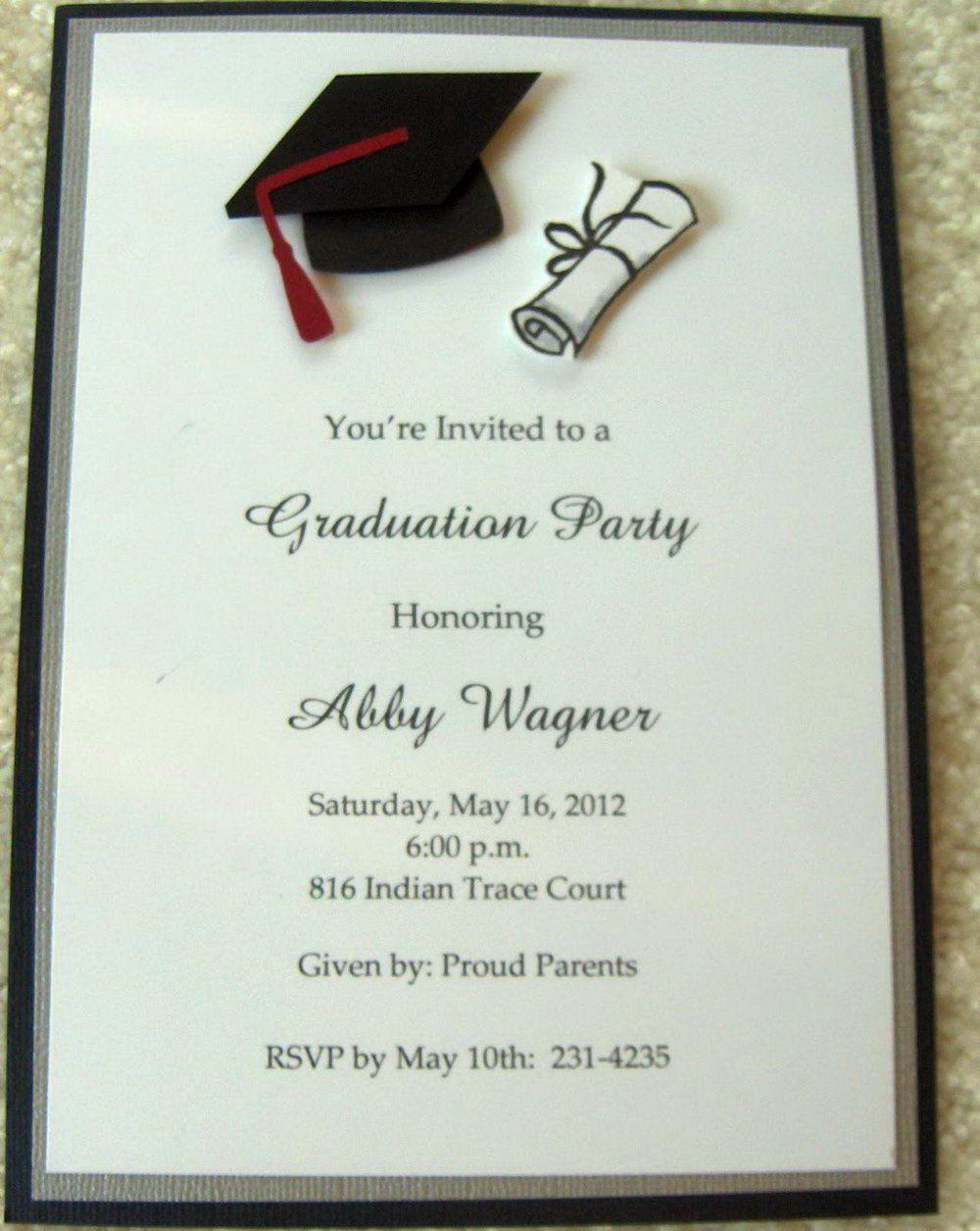High School Graduation Card Luxury 007 Free Printable Gradua Graduation Invitation Samples College Graduation Party Invitations Graduation Invitations Template