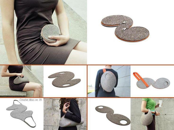 Modèles simple pour sacs à main originaux en feutrine