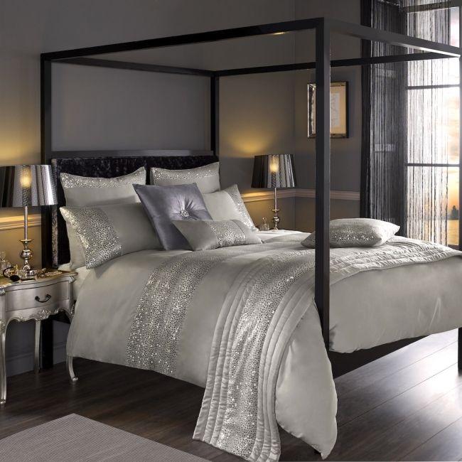 Luxus Bettwäsche von Kylie Minogue \u2013 Satin, Pailetten und edle