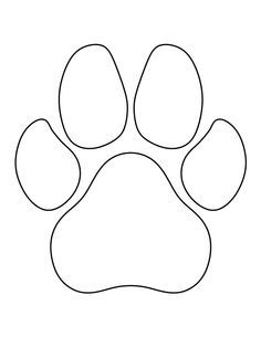 Dog Paw Print Pattern Use The Printable Outline For Crafts Creating Stencils Scrapbooking And More Free PDF Template To Download At