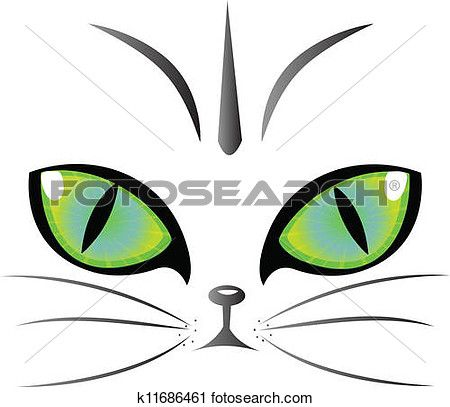 Cat Eyes Logo Vector Clipart K11686461 Cat Eyes Drawing Clip Art Eye Logo