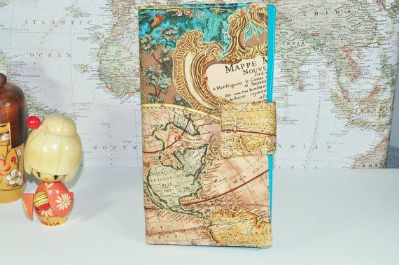 Renaissance world map travel wallet boarding pass organizer renaissance world map travel wallet boarding pass organizer family travel wallet metallic gold accents travel gift made to order gumiabroncs Images