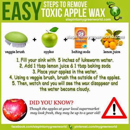 Easy Steps to Remove Toxic Apple Wax | Vegetarian