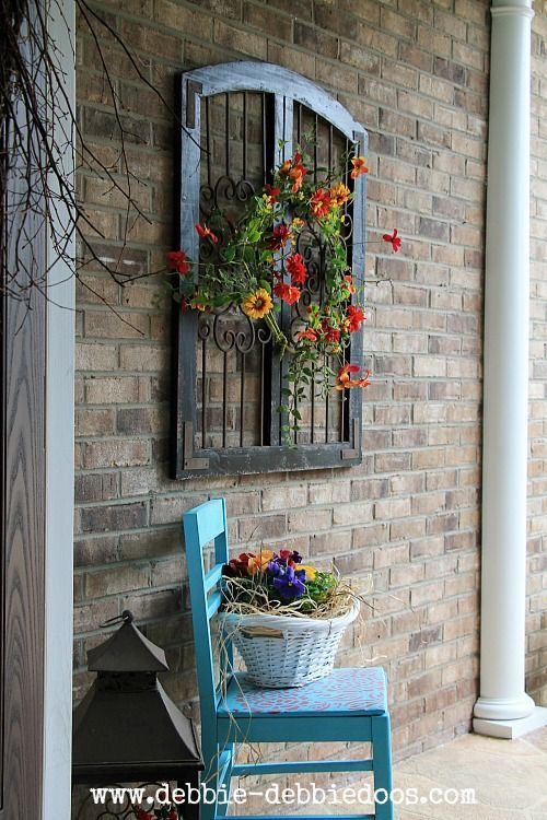 Thrifty Makeovers Take 2. Outdoor Wall DecorationsFront ...