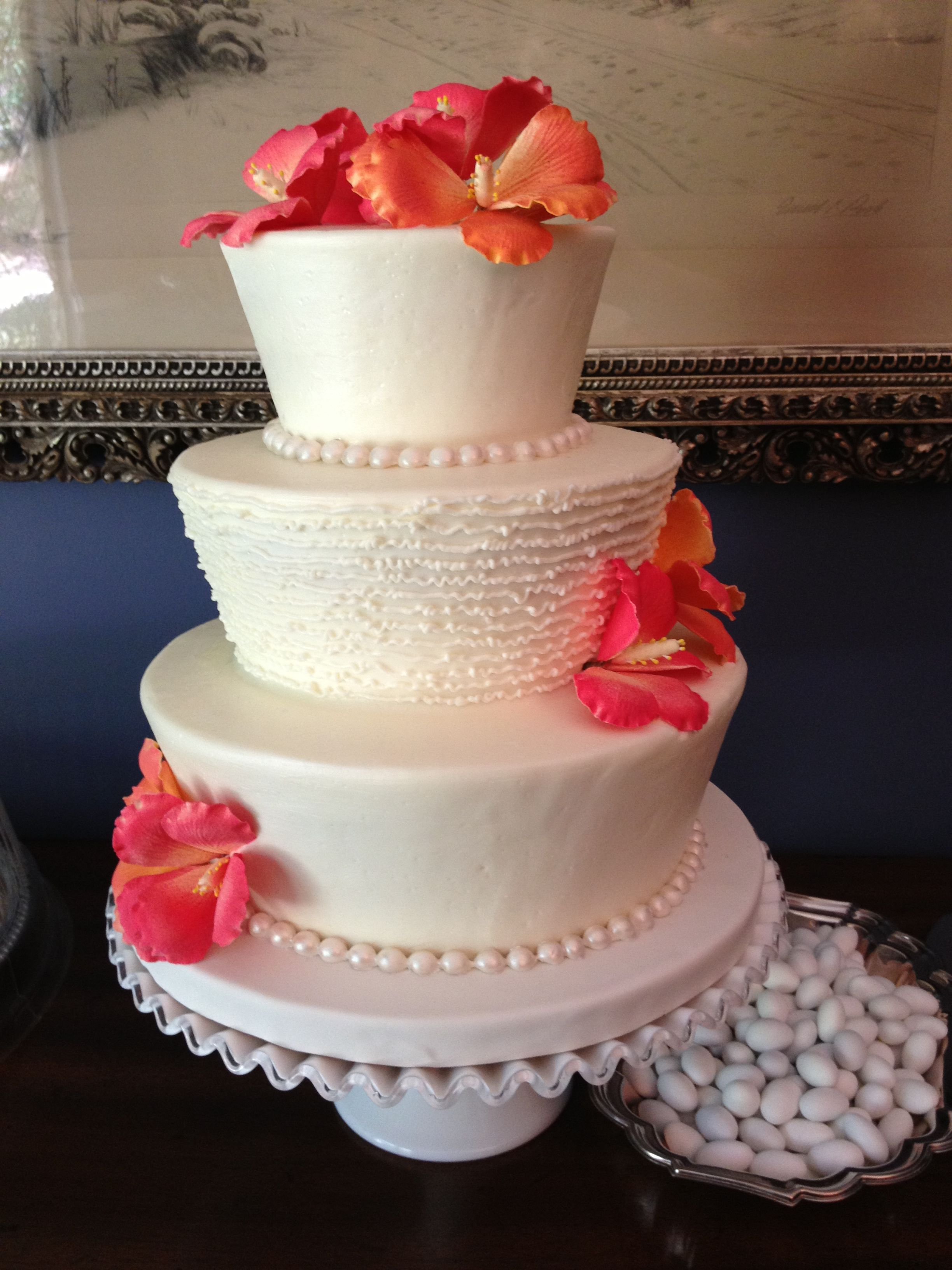 hibiscus wedding cakes hibiscus wedding cake wedding cakes 15222