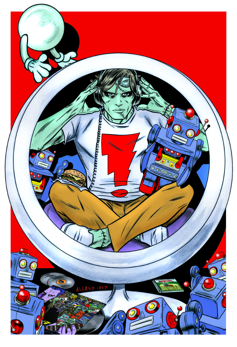 Frank Einstein, by Mike Allred...if ya' didn't know!