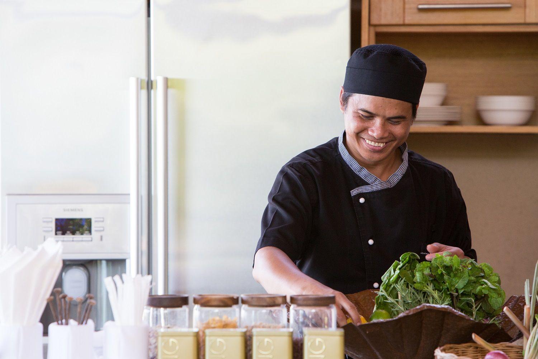 Kalya Residence At Panacea Retreat Your Own Personal Chef Samui Koh Samui Open Plan Kitchen
