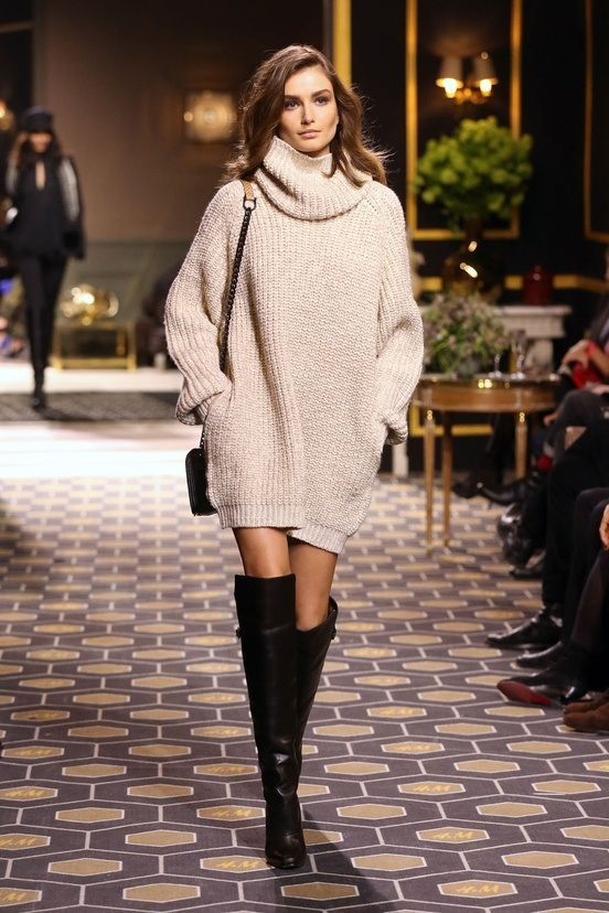 f4bad612ae 18 Street Style Ideas With Sweater Dresses