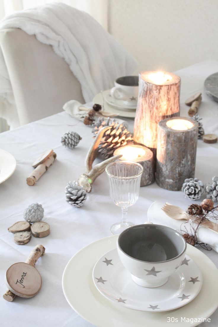 a rustic chic christmas table setting