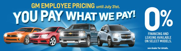 Four Days Remain To Take Advantage Of Gm Employee Pricing At West