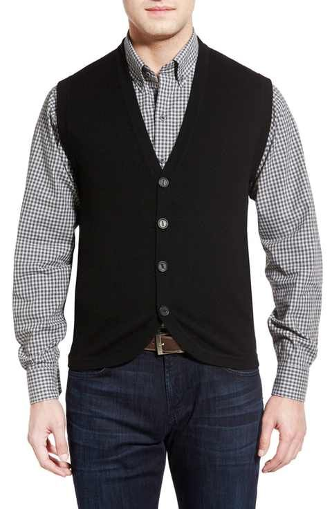Cutter & Buck Bosque Wool & Cashmere Sweater Vest (Big & Tall ...