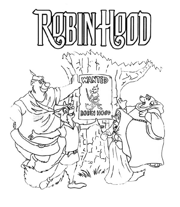 Robin Hood Wanted Poster Coloring Pages : Best Place to