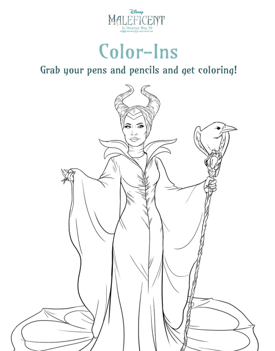 Maleficent Movie Activity Sheets And New Clips Everything Disney
