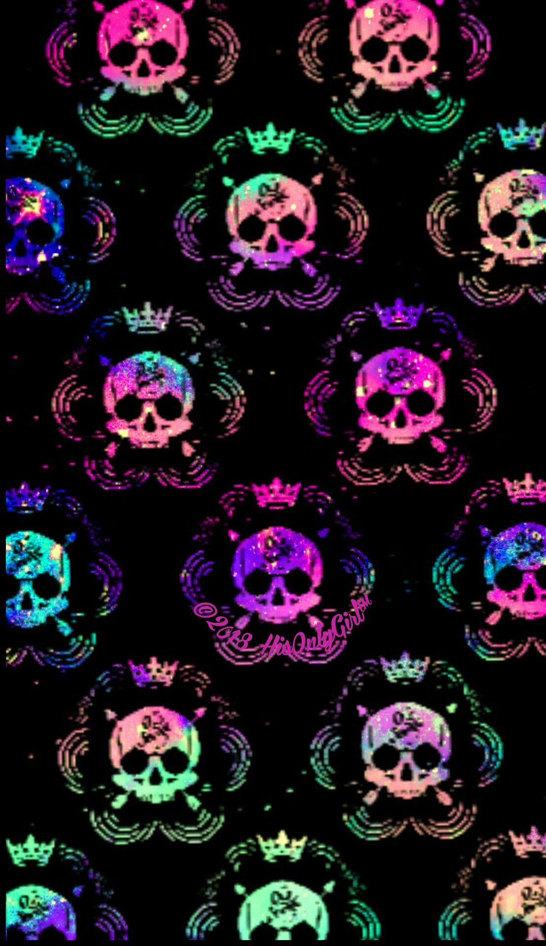 Pin by 𝓜𝓲𝔃𝓴𝓪𝔂𝓽 on ρ૨єττყ ωคℓℓเєઽ Skull wallpaper, Galaxy