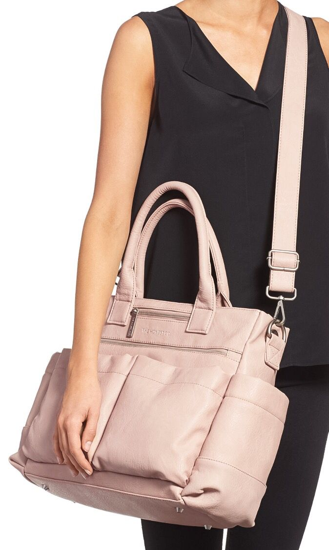 The Honest Company Everything Faux Leather Diaper Bag