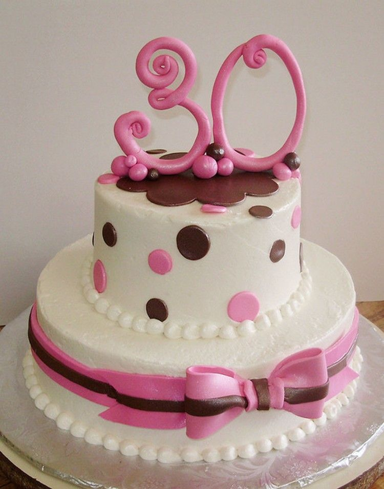 30th Birthday Cakes For Females Picture In Cake