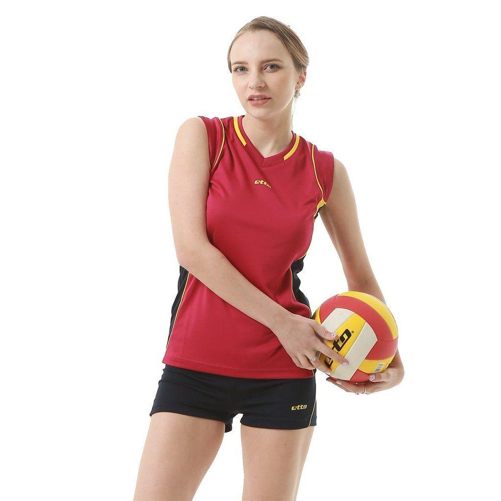 Etto Womens Volleyball Sleeveless Jerseys Set 13 Colors Women Volleyball Women Jersey