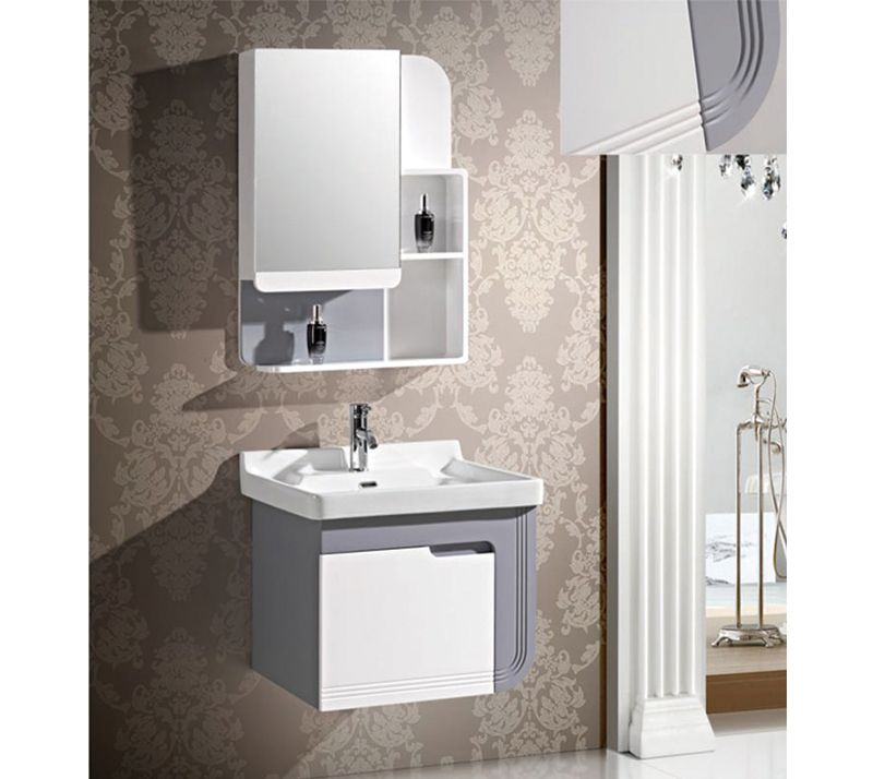 Bathroom Cabinet Yx 7363 Pvc Cabinet Affordable Waterproof High Temperature Proof Anti Carved Easy T Mirror Cabinets Bathroom