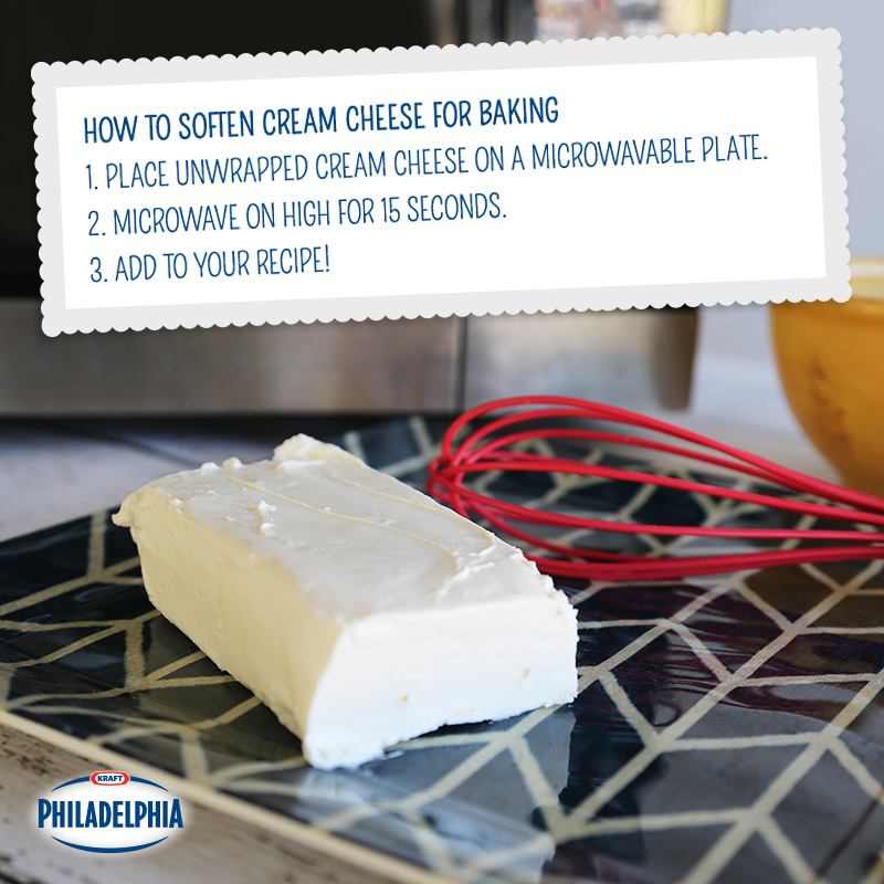 how long to let cream cheese soften