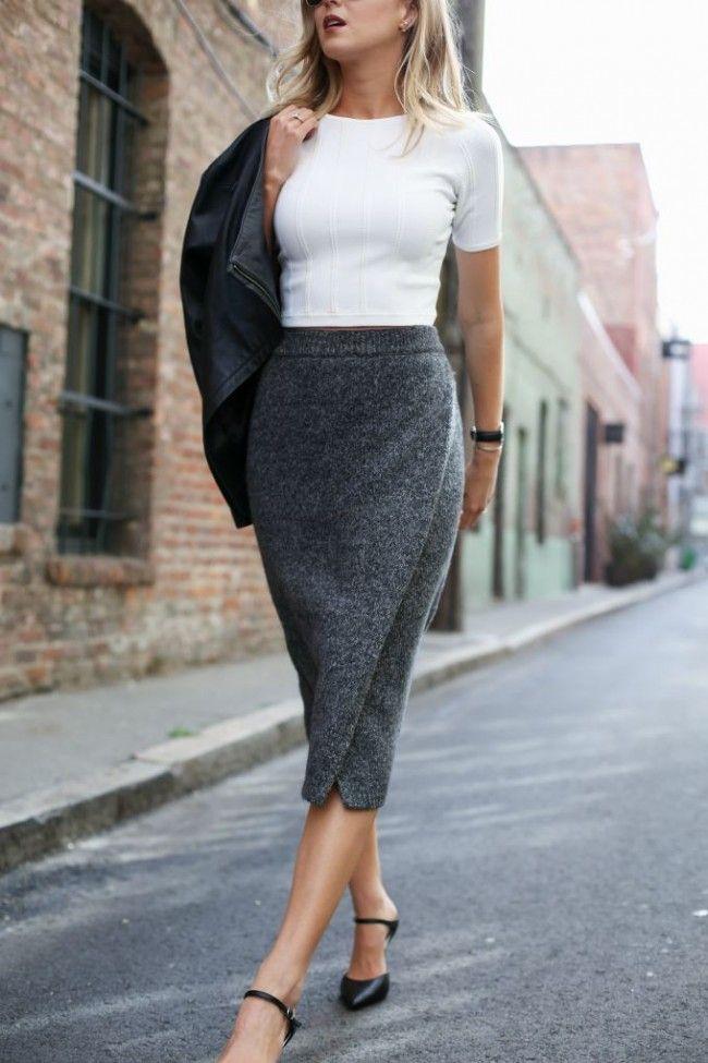 e4c133859e10 memorandum, knit, pencil, skirt, fall, inspo | Her Style - Fall ...