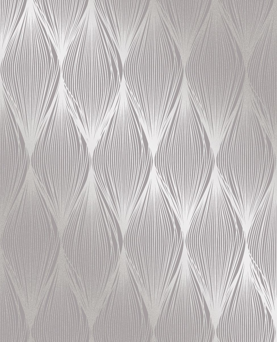 Fine Decor Essence Linear Ogee Purple Silver Fd23327 Wallp