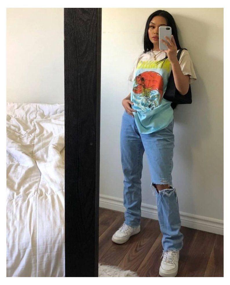 Photo of baggy jeans outfit tomboy style