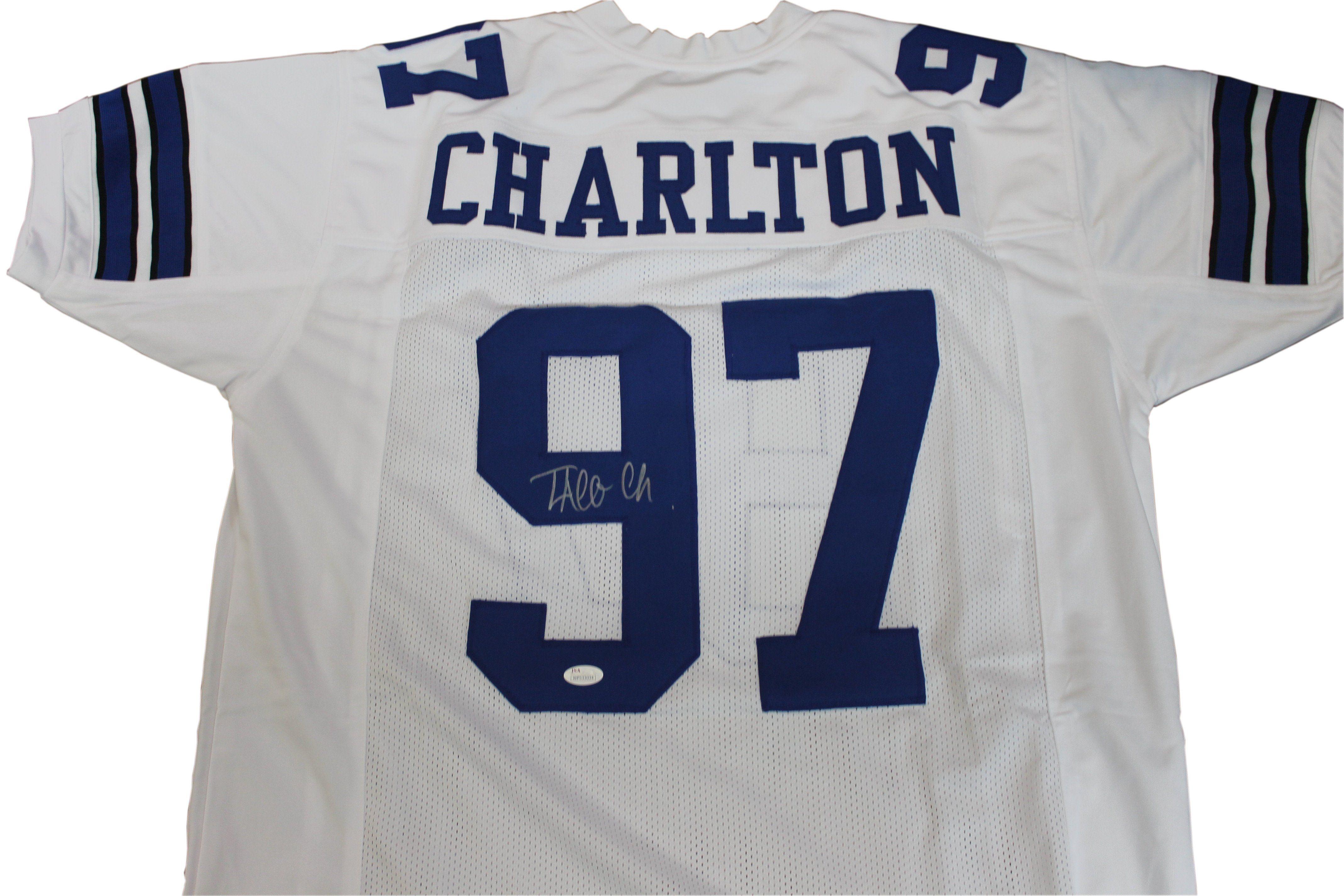 01cc7de1dff Taco Charlton Autographed Dallas Cowboys White Jersey w/ JSA COA ...