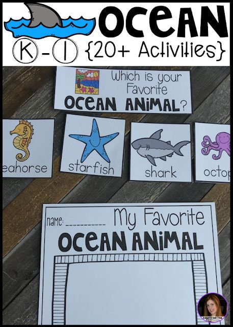 Ocean Thematic Unit for Kindergarten (20+) Centers, Crafts, Science ...