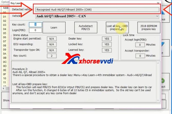 How To Use Vvdi2 Key Programmer Program Audi Q7 2007 Key With