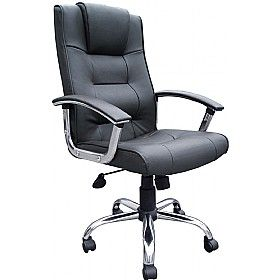 Pin By Office Desks On Leather Chairs Brown Leather Office Chair