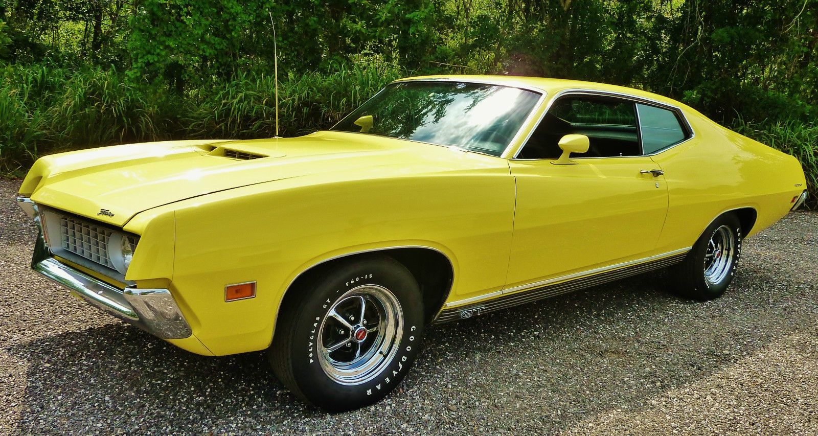 Screaming Yellow Zonker 1971 Ford Torino Gt Ford Torino Classic Cars Classic Cars Muscle