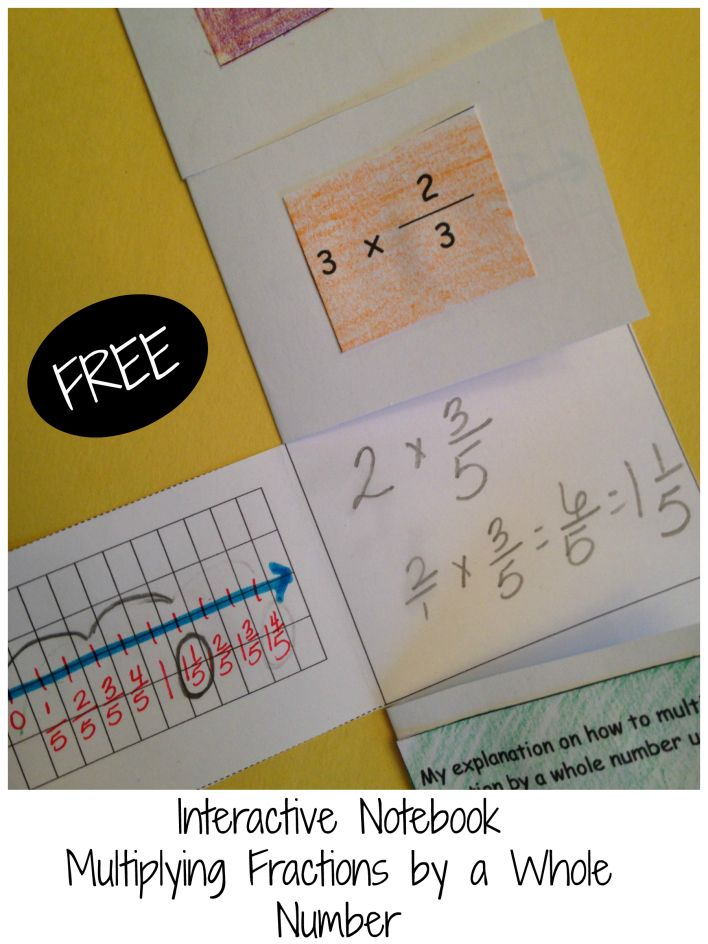Interactive Notebook to help students understand what they are doing when they multiply a whole number by a fraction. 4.NF.B.4