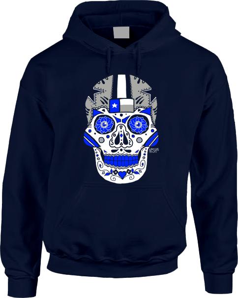 Dallas Sugar Skull Hoodie  d85c49711
