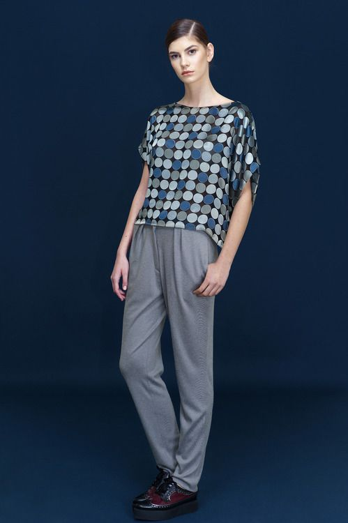 The loose trousers...nothing on but cashmere feel...