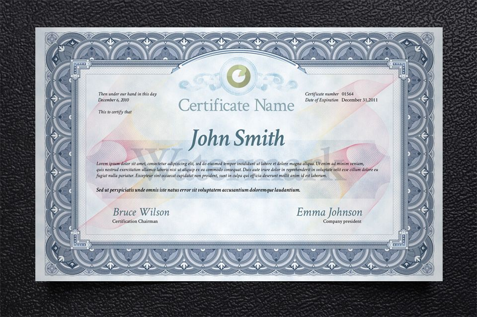 Psd Print Certificate Template Misc Print Pixeden
