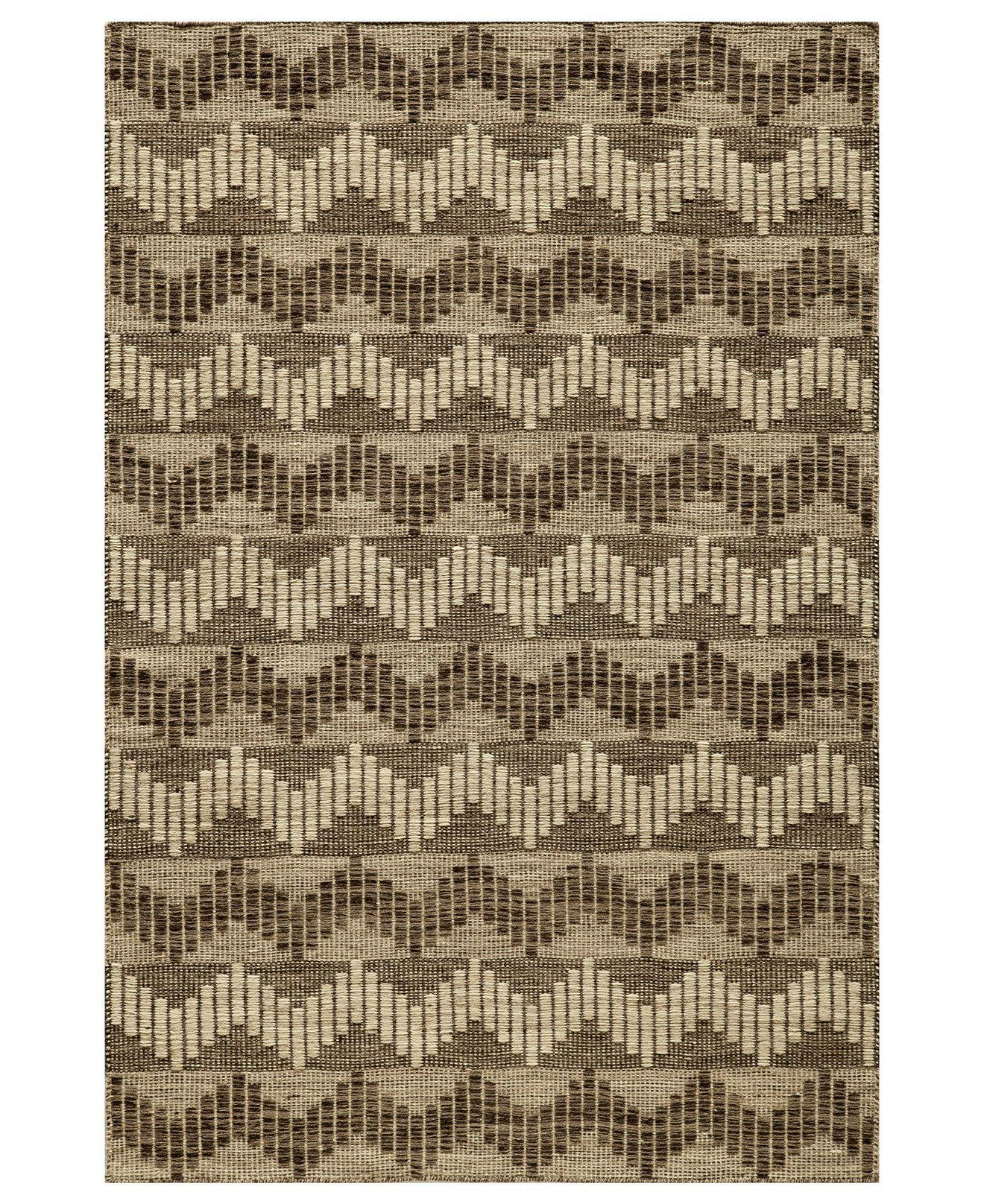 Momeni Area Rug, Keaton Flatweave Bar Grey 8' x 10' - 8 x 10 Rugs - Rugs - Macy's