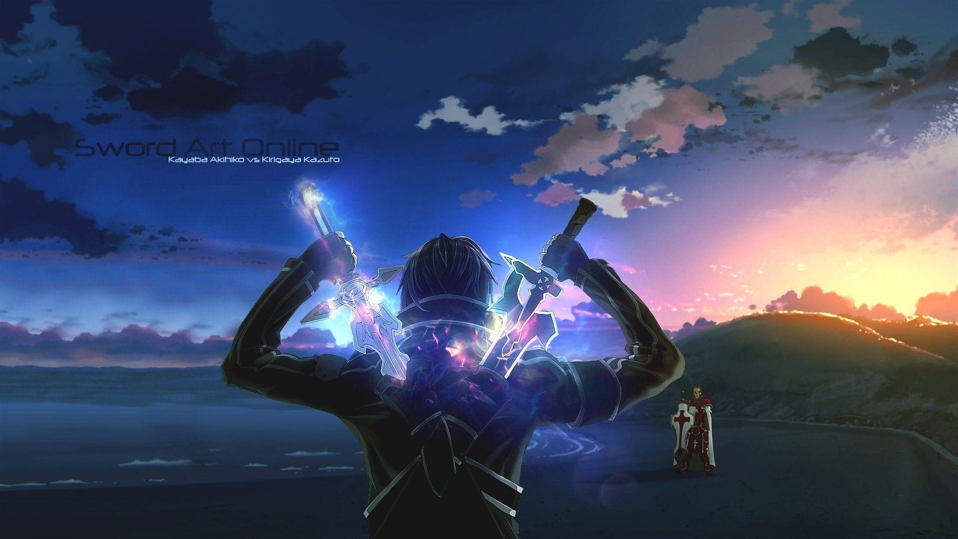 Anime Sword Art Online Anime Kirito (Sword Art Online) Kayaba Akihiko Epée Weapon Lever De ...