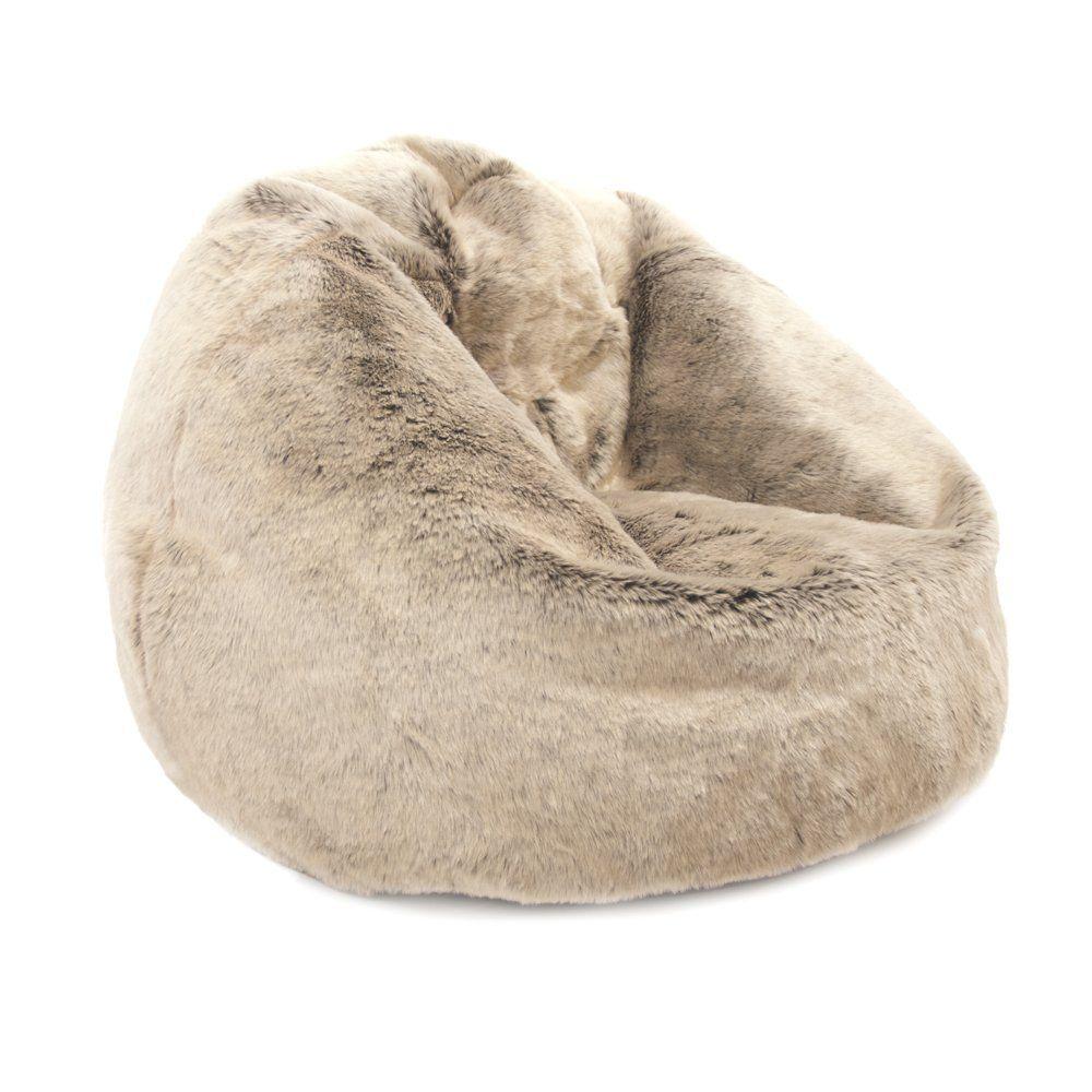 23aeeb4ed7 ICON Large Bean Bag Classic - Luxury Faux Fur Bean Bags - Designer Bean  Bags MINK  Amazon.co.uk  Kitchen   Home