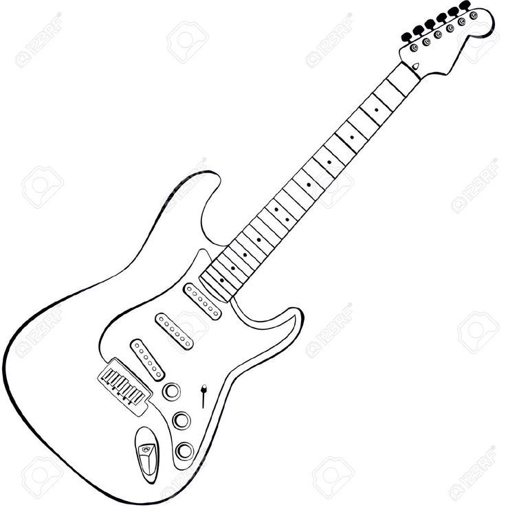 Learn To Play Electric Guitar In Minutes Dibujos De Guitarras Dibujo Guitarra Electrica Molde De Guitarra