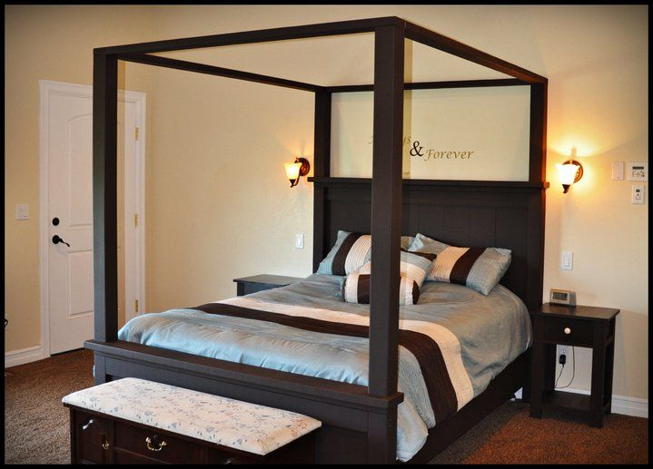 Farmhouse Bed with Canopy - Kreg Jig Owners Community : farmhouse canopy bed - memphite.com
