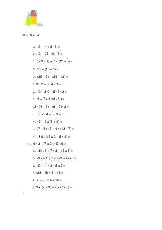 Operaciones combinadas   Algebra, Mathematics, Math
