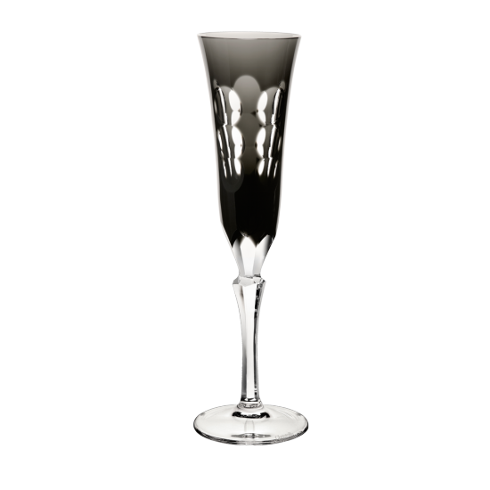 Gray Crystal Champagne Flute
