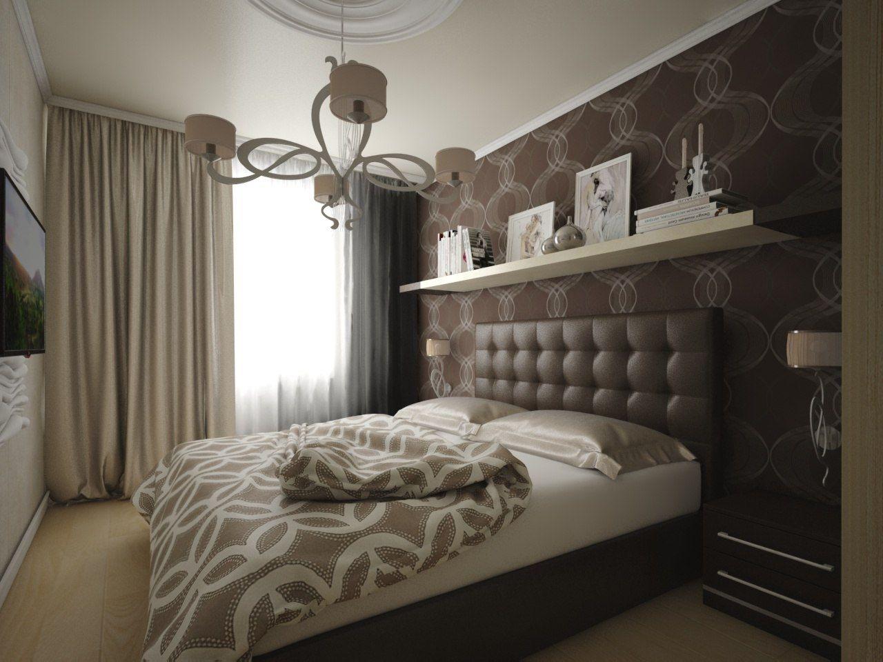 шоколадная спальня с белой мебелью фото великолепным было