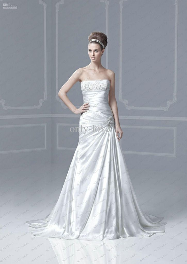 white a line wedding dress - plus size dresses for wedding guests ...