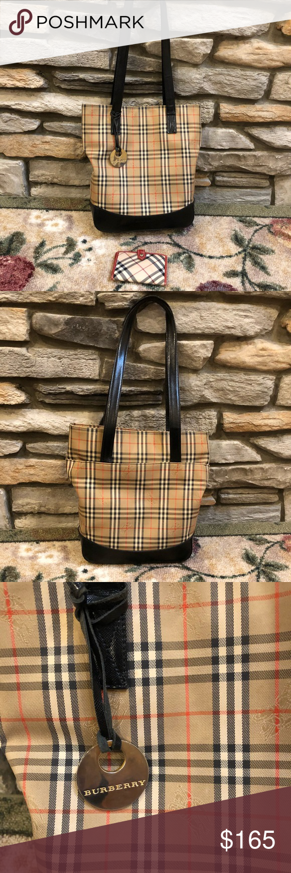 burberry tote bag blue label